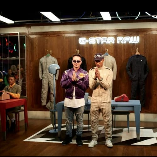 Pharrell and J Balvin at G Star Raw's experience