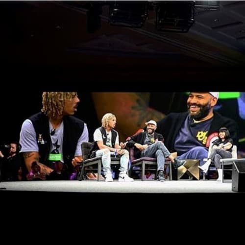 "Scenes from ComplexCon(versations) ""Drop Science"" panel with Jerry Lorenzo, Deon Point, Racks Hogan, Chris Union, Karizza Sanchez and others. 📸: @locallyunknwn"