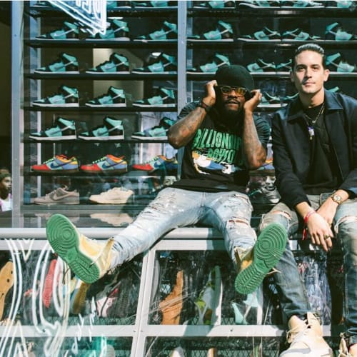 Wale & G Eazy were chillin' at Project Blitz x  Diamond Supply Co's set up 📷: @jenjphoto