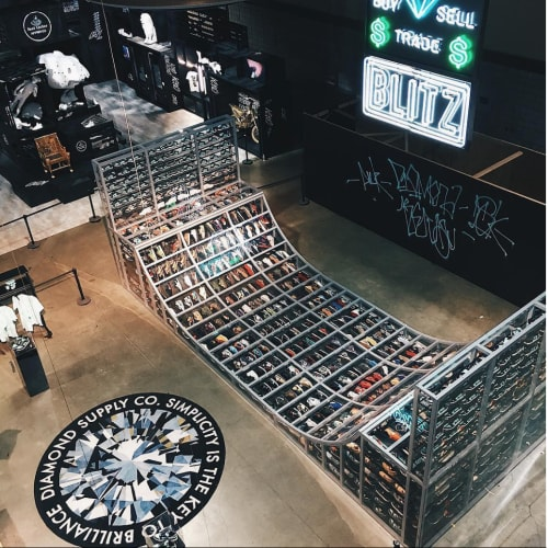 Bird's eye view of Project Blitz x Diamond Supply Co's ramp!
