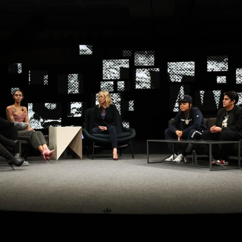 Leading Ladies ComplexCon(versation) Panel, led by comedian and TV host Chelsea Handler, the panel featured Beautycon founder Moj Mahdara, actor/producer/screenwriter Lena Waithe, hip-hop phenom Young M.A, actor Dascha Polanco, and models Indyamarie Jean and Iskra Lawrence.