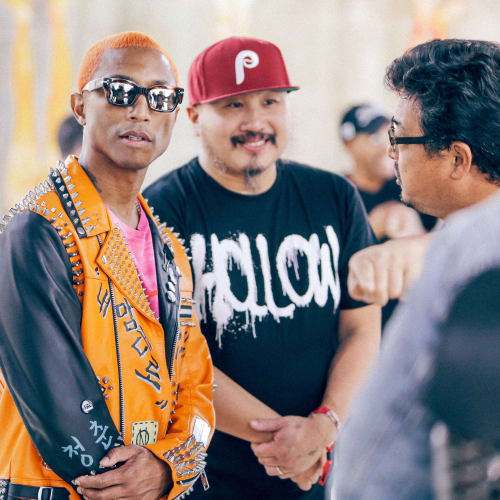 Pharrell and artist Madsaki