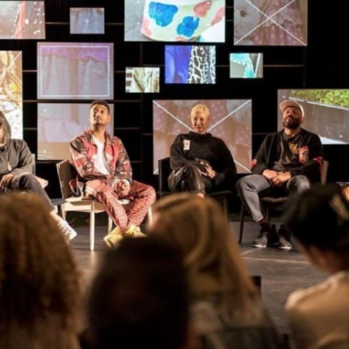 "ComplexCon(versations), some of the most important names in streetwear discuss the relationship of Japanese and American culture in a panel titled ""Hype East"" hosted by Union LA's Chris Gibbs featuring Takashi Murakami, Don C. (founder, Just Don), Hiroshi Fujiwara, and Yoon Ahn (founder, Ambush), who dissected the influence Japanese streetwear has had on America."