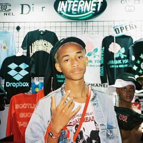 Jaden Smith at Chinatown Market 📷: @dillongerstung