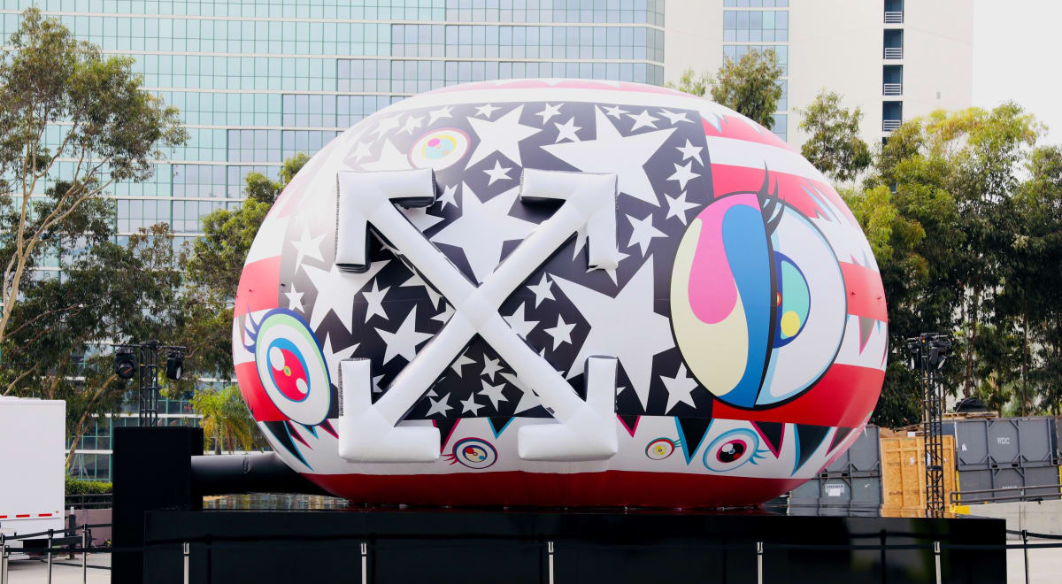 Takashi Murakami and Virgil Abloh's collaborative artwork