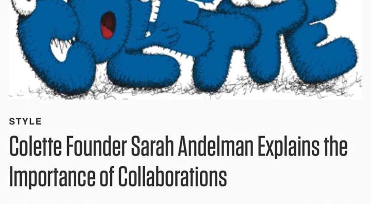 Colette Founder Sarah Andelman Explains the Importance of Collaborations