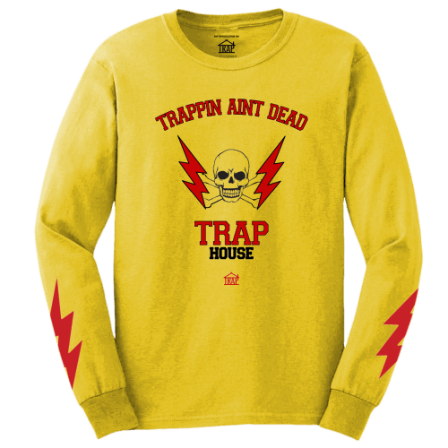 Trapping Ain't Dead Long Sleeve Tee [Yellow]