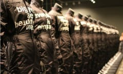 'i feel ya' features the 47 jumpsuits the rapper wore during the Outkast reunion tour.