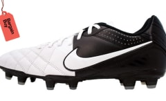 The Nike Tiempo Natural IV Leather White Soccer Boot