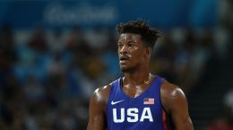 Jimmy Butler playing for Team USA men's basketball