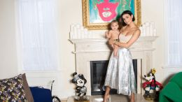 Kristen Noel Crawley with her son, Luc, in their Los Angeles home. August 2016.