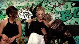 Cara Delevingne, Margot Robbie, and Karen Fukuhara talk 'Suicide Squad.'