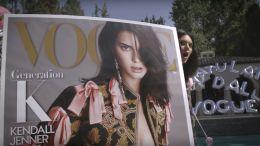 Kendall Jenner celebrates her 'Vogue' cover.