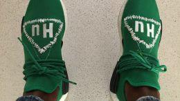 Pharrell adidas NMD Human Race Green Custom