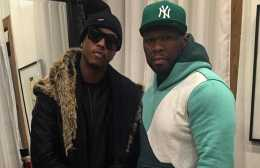 50 Cent and Jeremih Backstage via IG