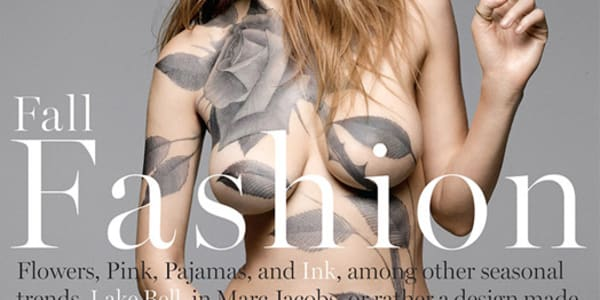 CELEBSWORLD: Lake Bell wears nothing but body paint for