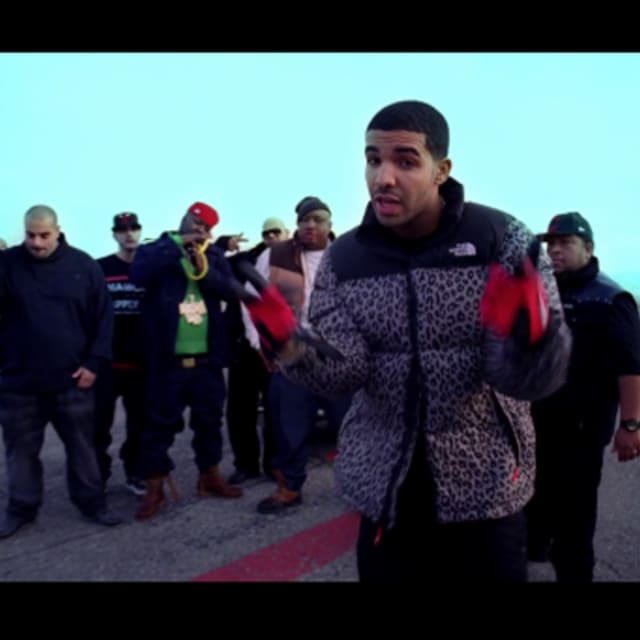 Drake Wears Supreme X The North Face Quot Leopard Quot Jacket