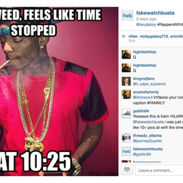 This mysterious instagram account calls out rappers and ballers for wearing fake watches complex for Watches rappers wear