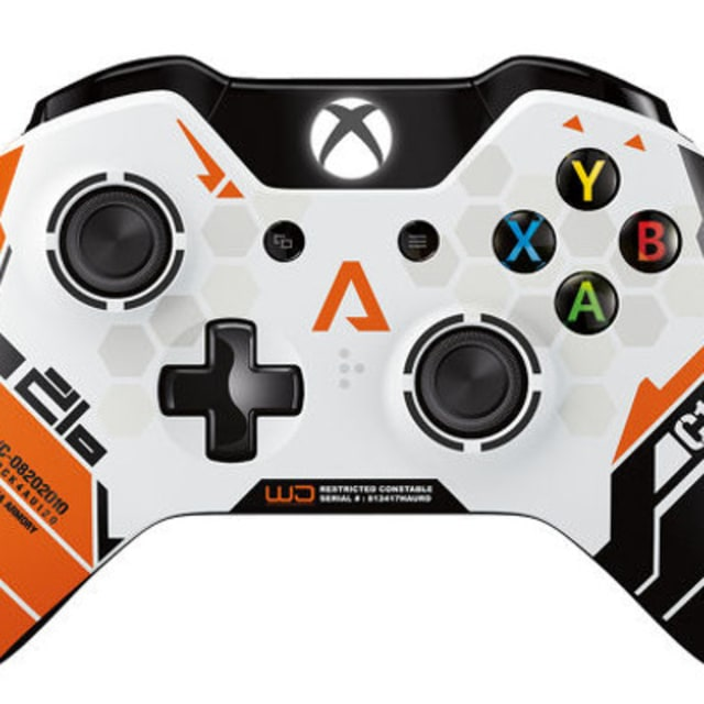 quottitanfallquot gets a limited edition xbox one controller With kitchen cabinets lowes with xbox controller stickers