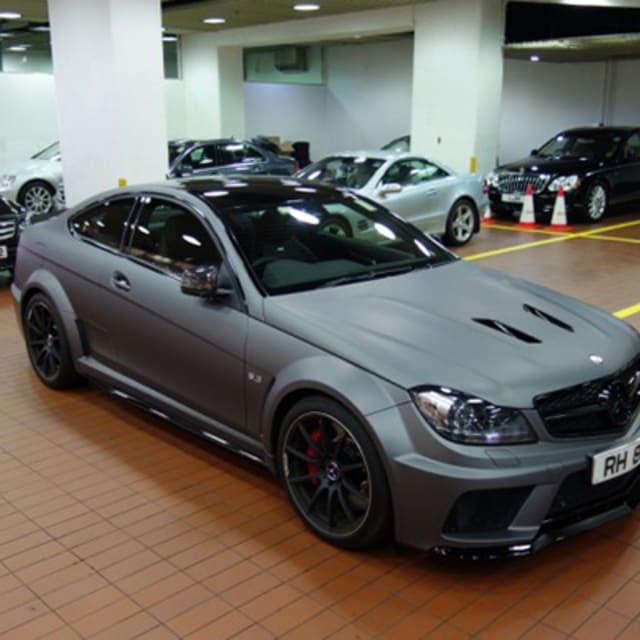 Mercedes Benz G Series: Matte Seal Gray On The Mercedes-Benz C63 AMG Makes The