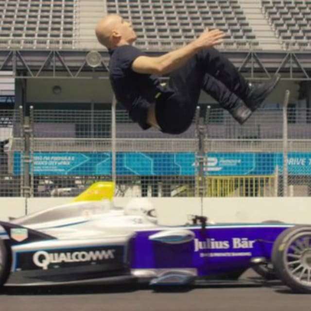 Here's An Amazing Video Of A Stuntman Doing A Backflip