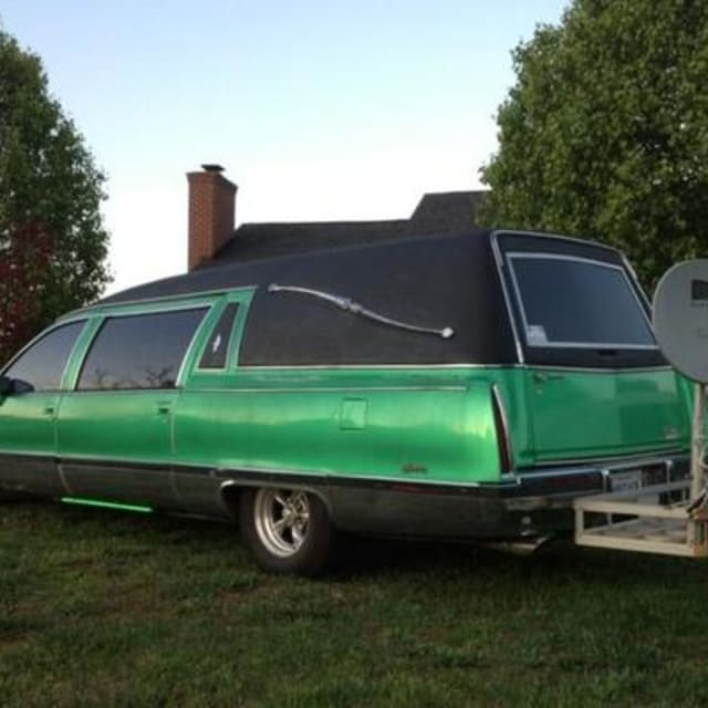 For Sale: Cadillac Fleetwood Hearse In Metallic Lime Green