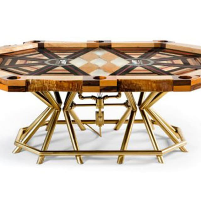 The world 39 s most expensive poker table complex for Complex table design