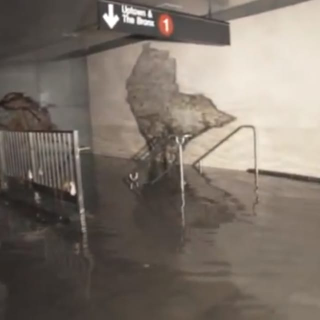 Inside A Completely Flooded Nyc Subway Station Video