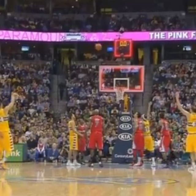 JaVale McGee Hit the First Three-Pointer of His Career ...