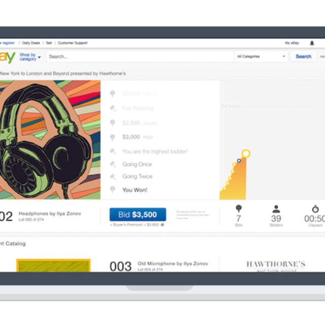 Auction houses have partnered with ebay to sell fine art for Sell fine art online