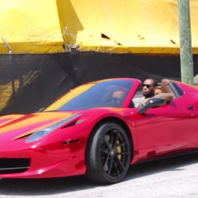 LeBron's Pre-Playoffs Car Of Choice Is A Red Chrome