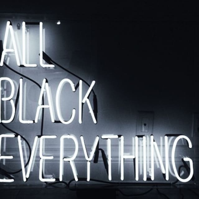All Black Everything: The Secret Shame Of All Black Everything