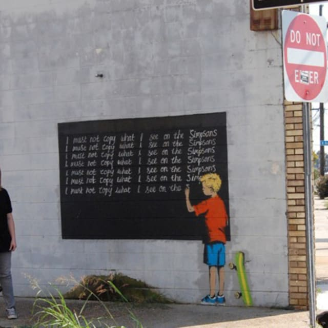 possible new banksy piece spotted in new orleans complex. Black Bedroom Furniture Sets. Home Design Ideas