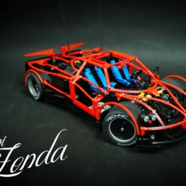 Fully Motorized Pagani Zonda Made With Lego Technic Pieces Complex