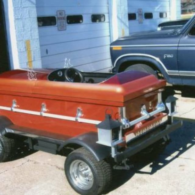 This Coffin Car Is For Sale On Craigslist For $1500