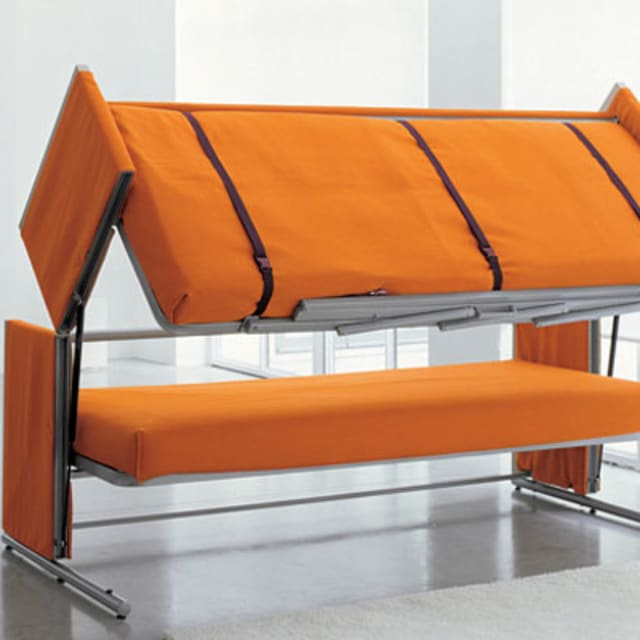 this sofa turns into a bunk bed complex. Black Bedroom Furniture Sets. Home Design Ideas