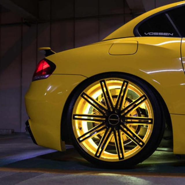 Bmw Z4 Australia: Vossen Wheels Goes Yellow With This Tron-Like BMW Z4