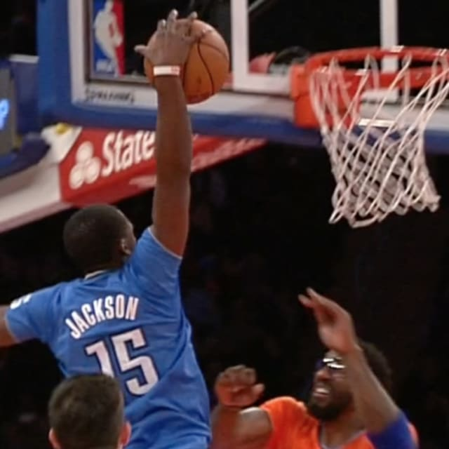 clip of the morning reggie jackson thunders a dunk down