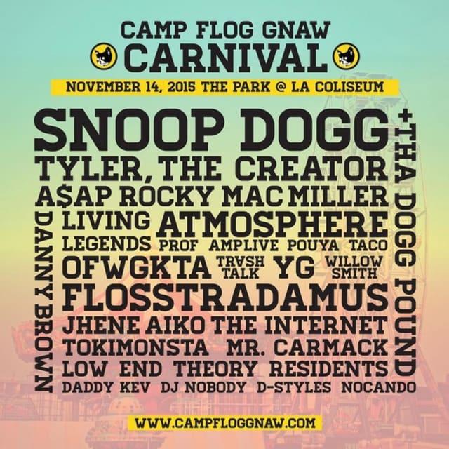 Camp Flog Gnaw Lineup 2015