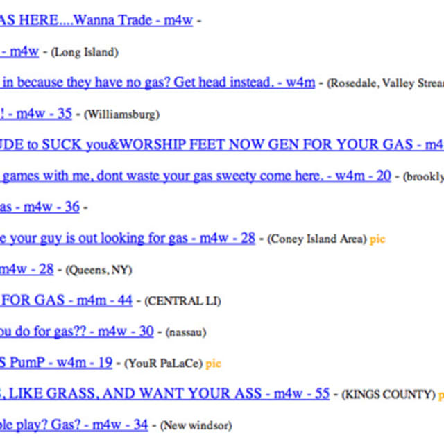New York Craigslist Users Making Unethical Bargains for ...