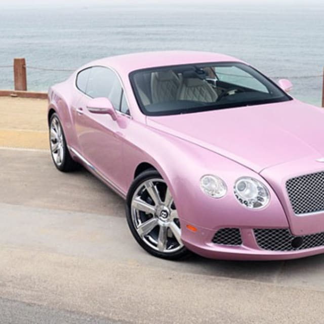 One For The Ladies Bentley Continental Gt Pink: Passion Pink Bentley Continental GT On Sale For Breast