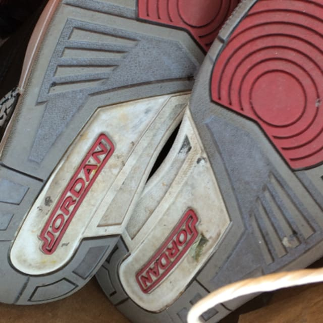 Thrift Store Volleyball Shoes