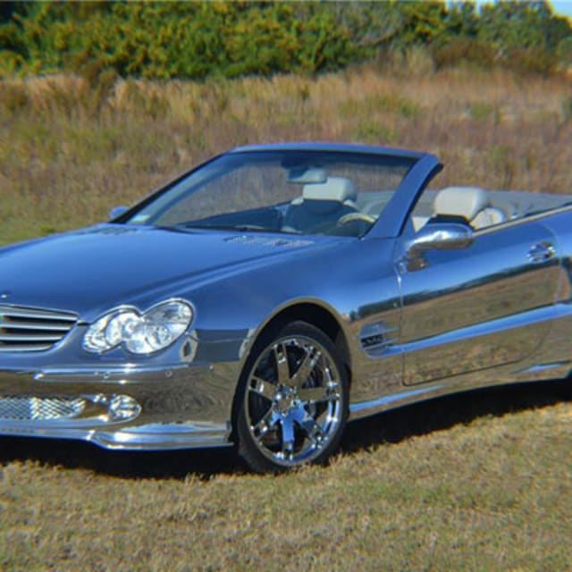 All chrome mercedes benz convertible auctions for 155 000 for Mercedes benz chrome
