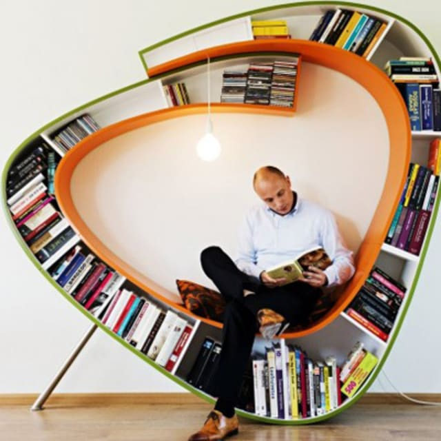 The bookworm bookcase by atelier 010 complex - Bibliotheque design bois ...