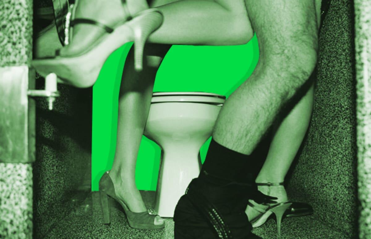 Sex in a bathroom stall Nude Photos 66