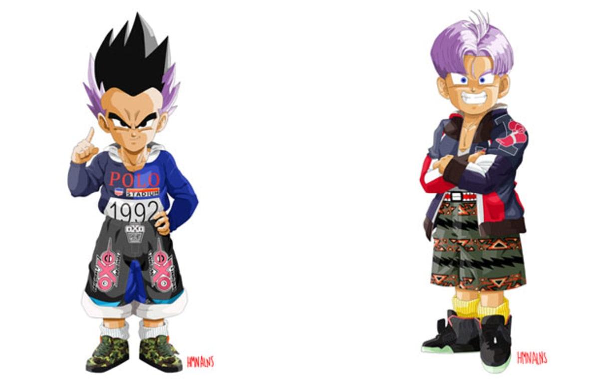 Dragon Ball Z Characters Get A Streetwear Transformation
