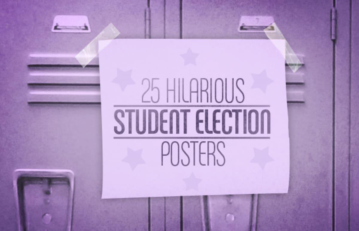 Classroom Representative Ideas : Hilarious student election posters complex