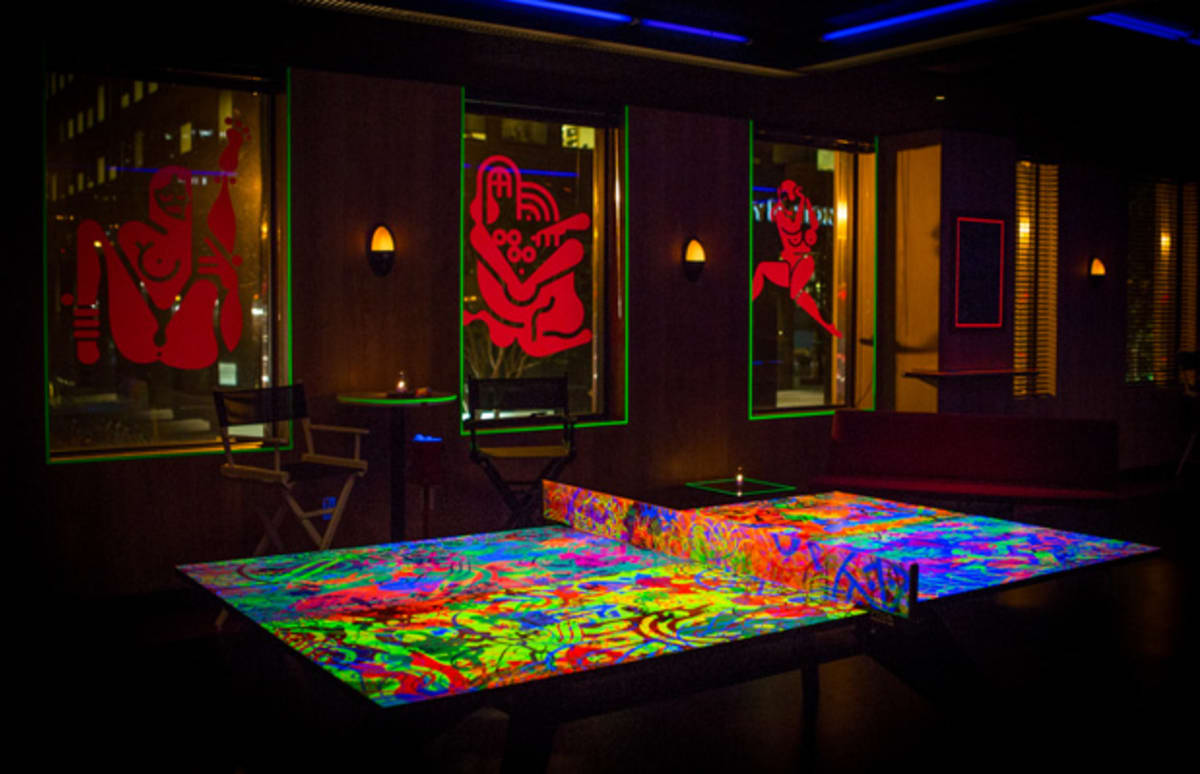 Ryan Mcginness Designs A Dayglo Ping Pong Table For The
