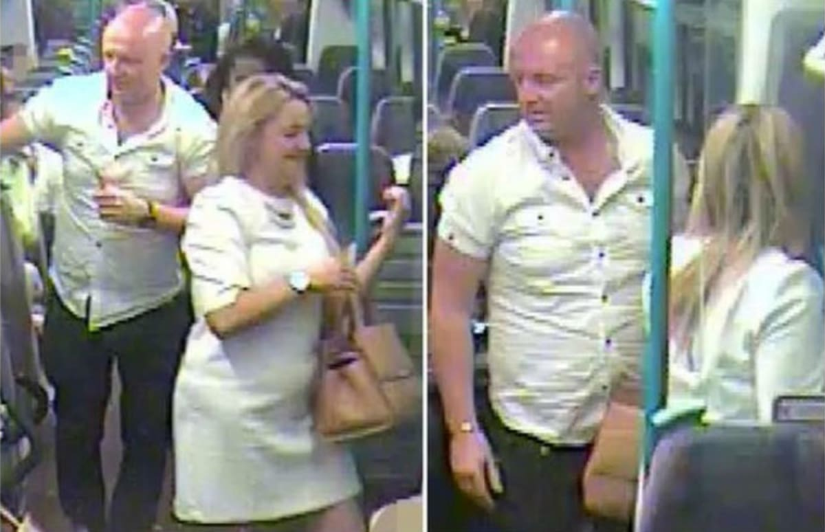 Woman fingered in middle of train