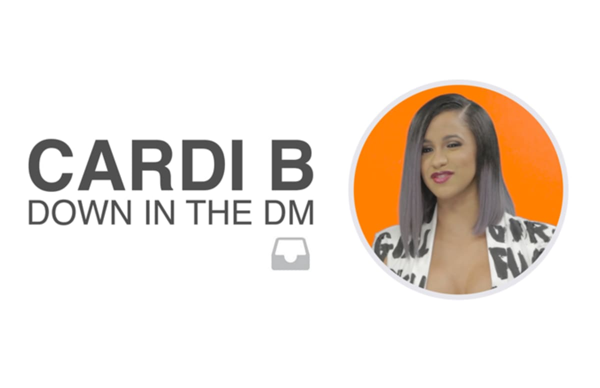 cardi b goes into her own dms to roast and give advice